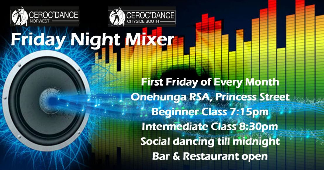 Friday Night Mixer Classes & Extended Social Dancing @ Onehunga RSA | Auckland | Auckland | New Zealand