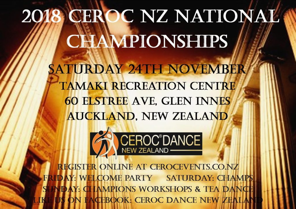 Ceroc Dance NZ National Championships @ Tamaki Recreation Centre | Auckland | Auckland | New Zealand