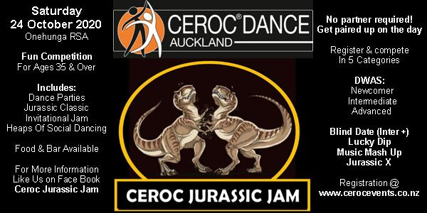 Ceroc Jurassic Jam Champs @ Onehunga RSA | Auckland | Auckland | New Zealand